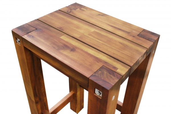 Sturdy High Stool Natural Oil Finished-1639