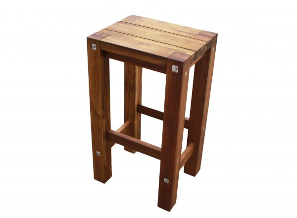 Sturdy High Stool Natural Oil Finished-1640