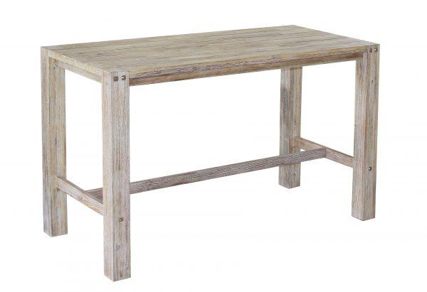 Sturdy bar table 180 cm White oil brush-0