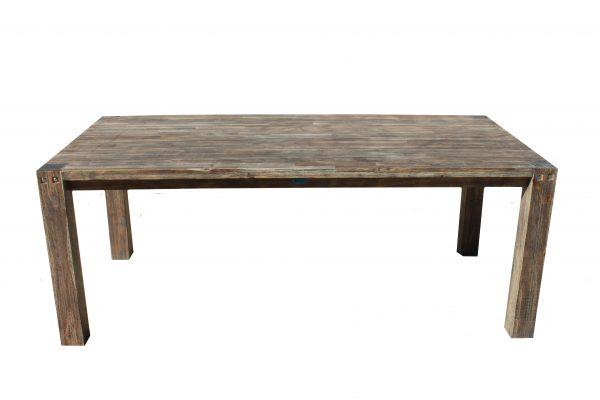 Sturdy Table 200 cm Long Black Brush Finish-0
