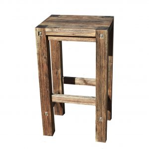 Sturdy High Stool Black Brush Finish-0