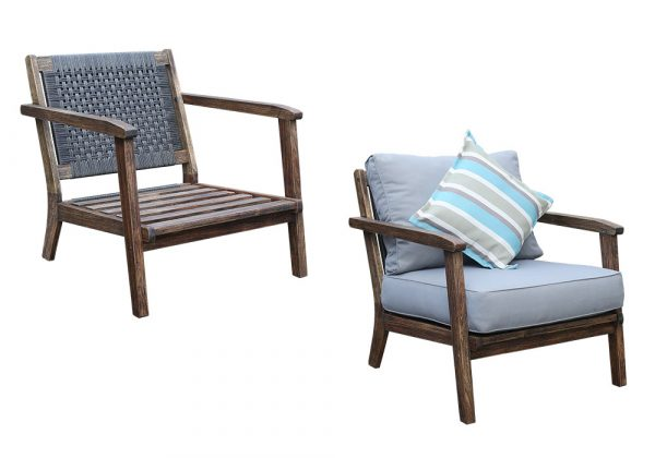 Image of the Saigon Armchair from the front