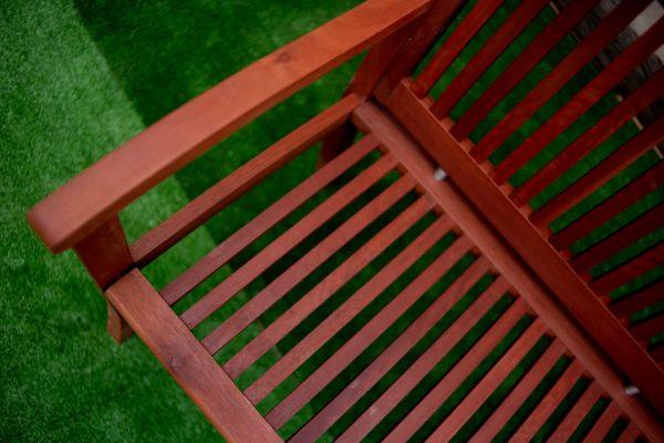 Espanyol 3 Seater Bench Red